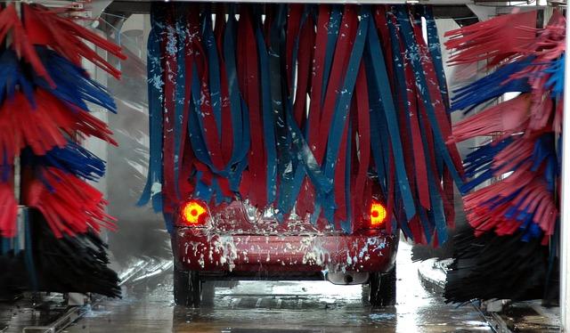 auto v myčce